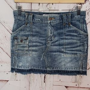 Express Distressed Jeans Skirt 1/2